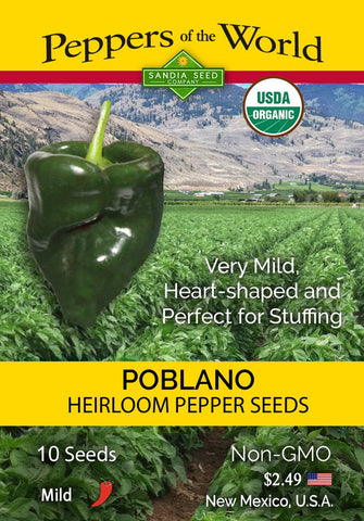 Poblano - Heirloom Pepper Seeds ORG - Lucifer's House of Heat