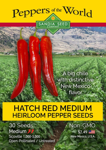 Hatch Red Medium - Joe E. Parker Chile Seeds - Lucifer's House of Heat