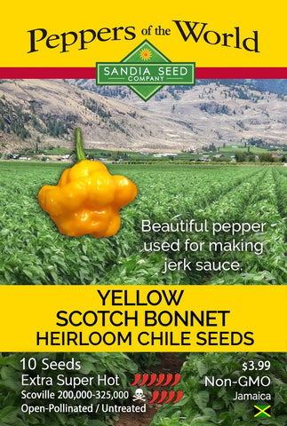 Scotch Bonnet Yellow Pepper Seeds - Lucifer's House of Heat