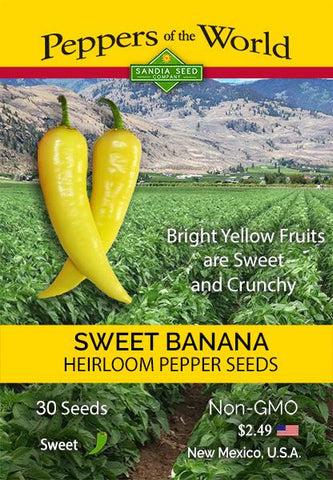Sweet Banana Pepper Seeds - Lucifer's House of Heat