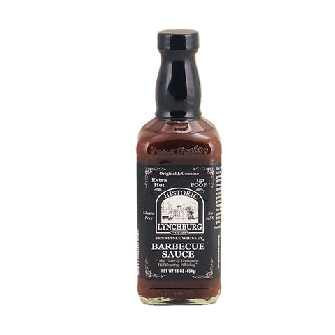 Lynchburg Tennessee 'Extra Hot' BBQ Sauce Made With Jack Daniels - 151 Poof - Lucifer's House of Heat