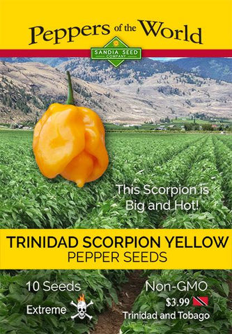 Trinidad Scorpion Yellow Pepper Seeds - Lucifer's House of Heat