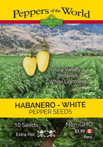 Habanero White Peruvian Lightning Pepper Seeds - Lucifer's House of Heat