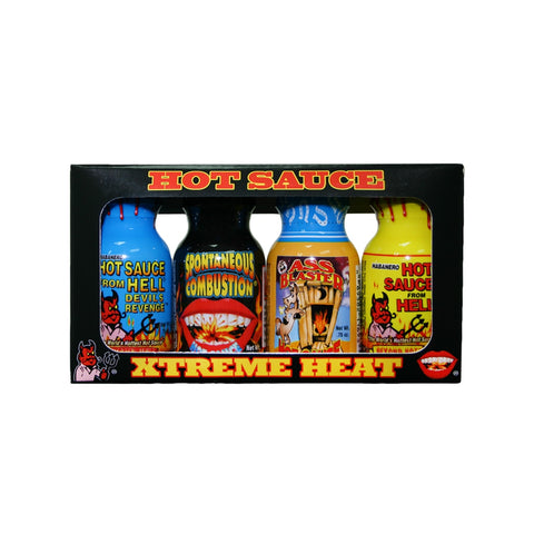 Xtreme Heat Mini 4-Pack (Travel Size) - Lucifer's House of Heat