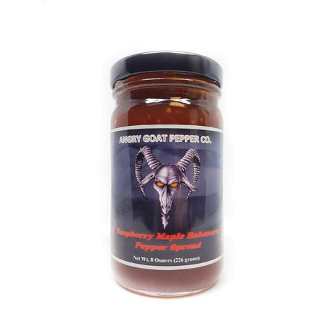 Angry Goat Raspberry Maple Habanero Pepper Jam - Lucifer's House of Heat