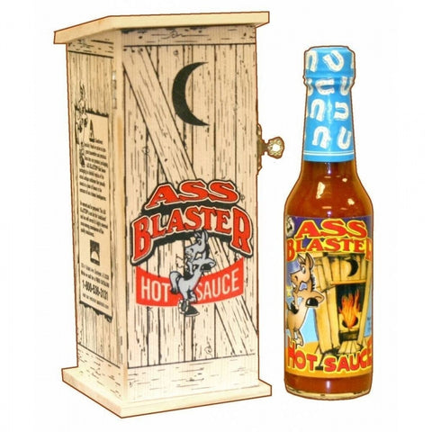 Ass Blaster Hot Sauce with Wooden Outhouse - Lucifer's House of Heat