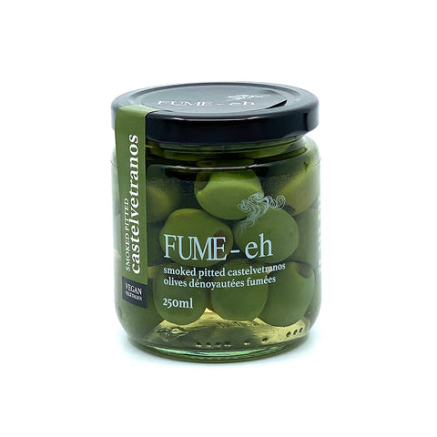 Fume-eh Smoked Pitted Castelvetrano Olives - Lucifer's House of Heat