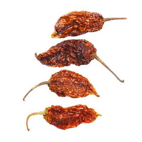 Dried Smoked Ghost Peppers (Bhut Jolokia) - Lucifer's House of Heat