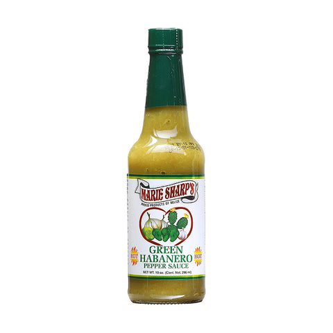 Marie Sharp's Green Habanero Nopal Prickly Pear Cactus Pepper Sauce (10oz) - Lucifer's House of Heat