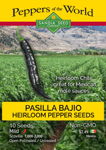 Pasilla Bajio / Chilaca Chile Seeds - Lucifer's House of Heat