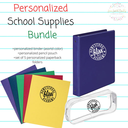 BTS Personalized Supply Bundle- BLISS GIFTS EXCLUSIVE