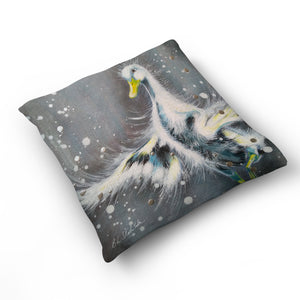 You Don't Have To Be A Swan To Join The Ballet - Cushion by Bridget Skanski-Such