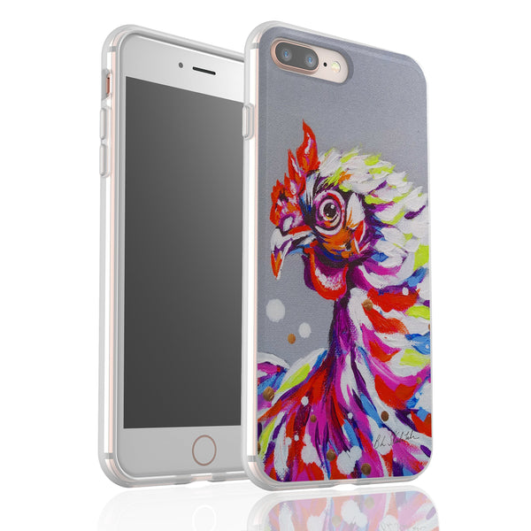 Funky Chicken By Bridget Skanski-Such - Flexi Phone Case