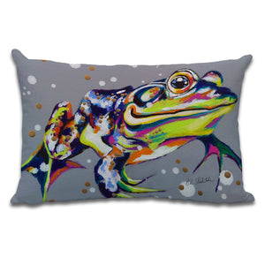 Kiss Me Quick - Cushion by Bridget Skanski-Such