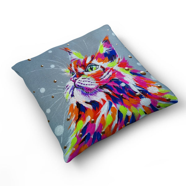 Prepare My Dinner - Cushion by Bridget Skanski-Such