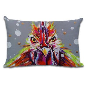 Psycho Billy - Cushion by Bridget Skanski-Such