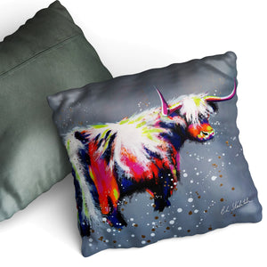 We Are Not Amoosed - Cushion by Bridget Skanski-Such