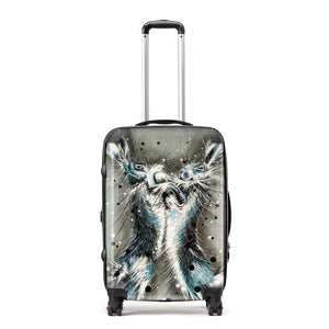 When The Fur Flies - Suitcase by Bridget Skanski-Such