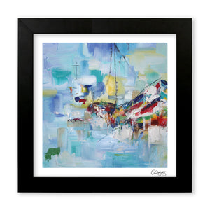 Framed Abstract Boat Print by Cheryl Wigley