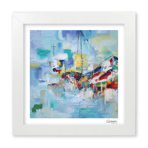 Abstract Boat Art Print by Cheryl Wigley