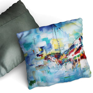 Boat Cushion by Cheryl Wigley