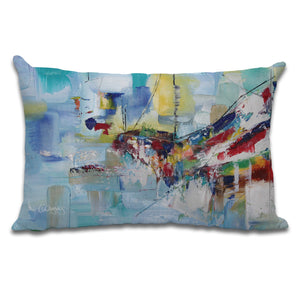 Soft Touch, Abstract Boat Cushion by Cheryl Wigley