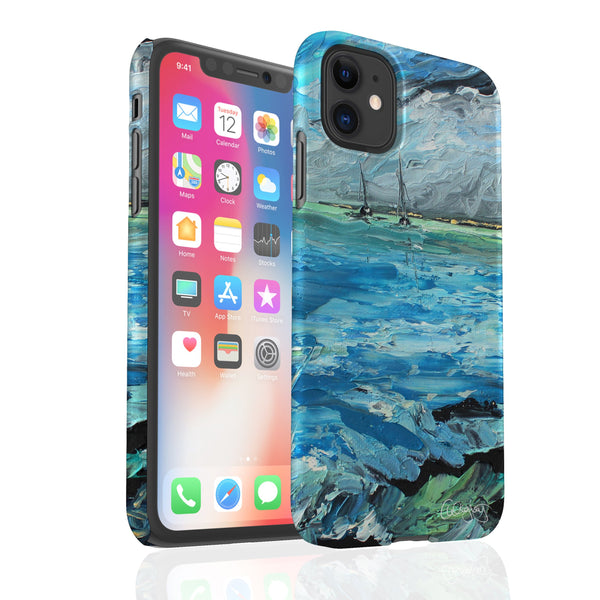 Aquamarine Tides By Cheryl Wigley - Snap Phone Case