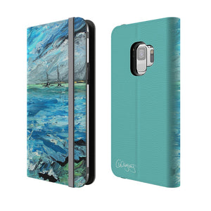Aquamarine Tides By Cheryl Wigley - Flip Phone Case
