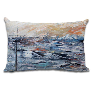 Peach Skies - Cushion by Cheryl Wigley