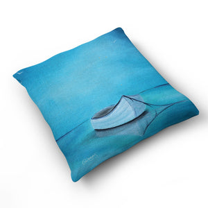 Quietly Adrift - Cushion by Cheryl Wigley