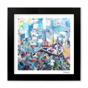 Harbour Days - Art Print by Cheryl Wigley