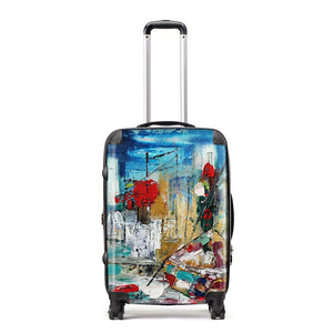 Fragmented - Suitcase by Cheryl Wigley