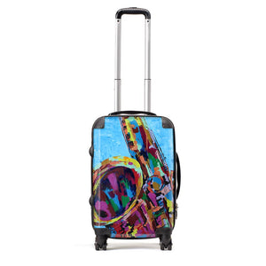 Rhythm - Suitcase by Cheryl Wigley