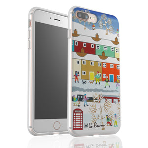 Out In The Snow By Gordon Barker - Flexi Phone Case