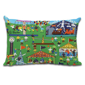 Fun Fair - Cushion by Gordon Barker