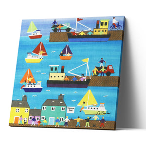 A Day At The Harbour - Canvas Print by Gordon Barker