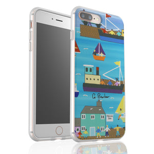 A Day At The Harbour By Gordon Barker - Flexi Phone Case