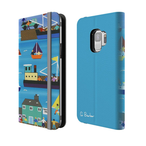 A Day At The Harbour - Flip Phone Case