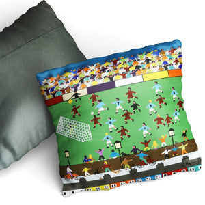 What A Great Game - Cushion by Gordon Barker