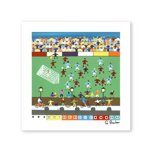 What A Great Game - Art Print by Gordon Barker