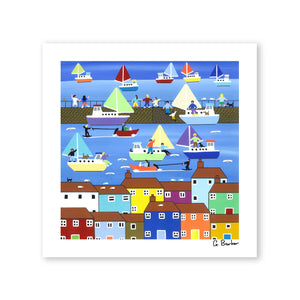 Summer Harbour - Art Print by Gordon Barker