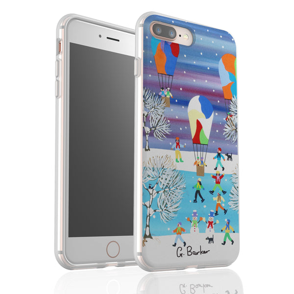Balloons In The Snow By Gordon Barker - Flexi Phone Case