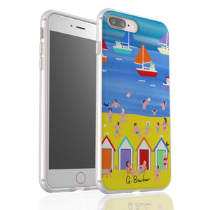 At The Beach Hut By Gordon Barker - Flexi Phone Case