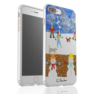 Winters Moon By Gordon Barker - Flexi Phone Case