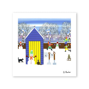 Fun In The Snow - Art Print by Gordon Barker