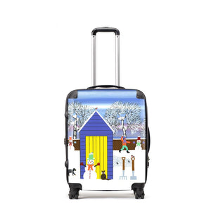 Fun In The Snow - Suitcase by Gordon Barker