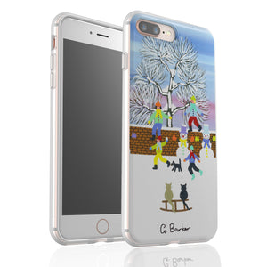 Fun In The Snow By Gordon Barker - Flexi Phone Case