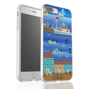 Water Skiing By Gordon Barker - Flexi Phone Case