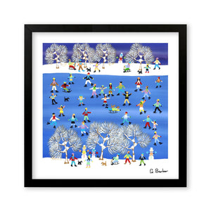 On The Ice - Art Print by Gordon Barker