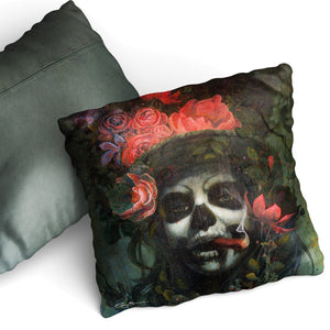 Soft Touch Day of the Dead Cushion by Gary McNamara